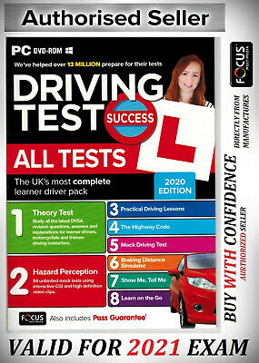 Driving Theory Test & Hazard Test - CAR. DVD CD ROM NEW 2019 EDITION wt*atPC