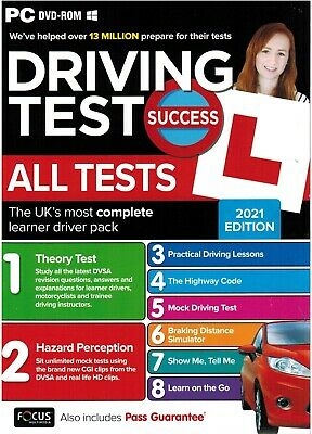2019 Driving Theory Test Success All Tests & Hazard Perception PC Dvd Rom*atpc