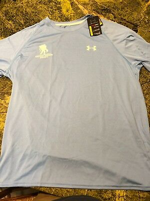 93b4f892 NWT Mens Under Armour Wounded Warrior Project Loose T-shirt Light Blue UNC