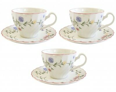 Johnson Brothers Summer Chintz Tea Cups and Saucers x 3