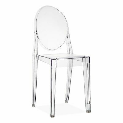 Set of 4 Dining Chair Clear Transparent Retro Kartell Victoria Ghost Inspired