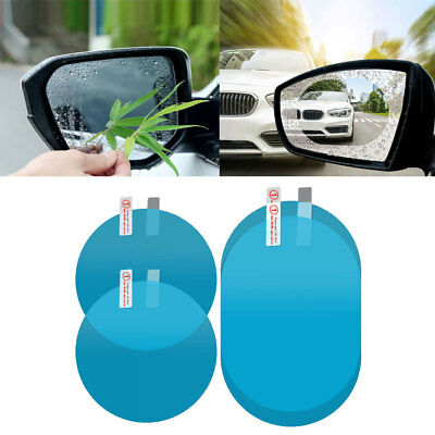 2Pcs Car Rearview Mirror Waterproof Membrane Anti-glare Anti-Fog Stickers Striki