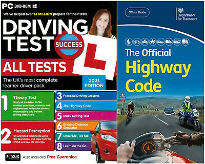 2018 Driving Theory Test & Hazard test CD Rom DVD Book Car,llj*Atpc+Highway Code