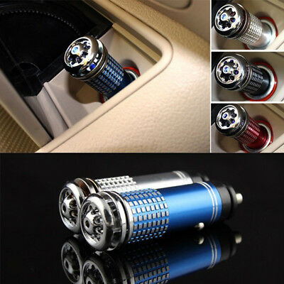 UK_ Mini Auto Car Anion Ozone Generator Air Cleaner Purifier Filter Oxygen Exqui