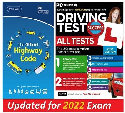 2019 Driving Theory Test & Hazard CD DVD + Official Highway Code Book..L*atpc+hw