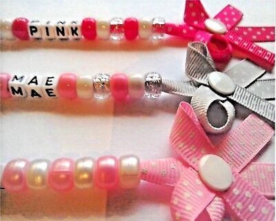 Personalised Bow Dummy Clip Chain Pacifer Soother