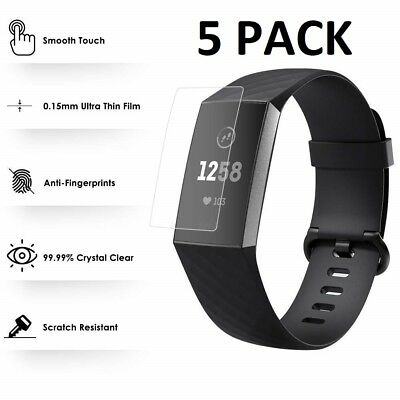 5 X For Fitbit Charge 3 Screen Protector Ultra Clear