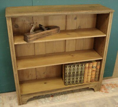 Adjustable Pine Shelves in this 19th Century Oak Bookcase