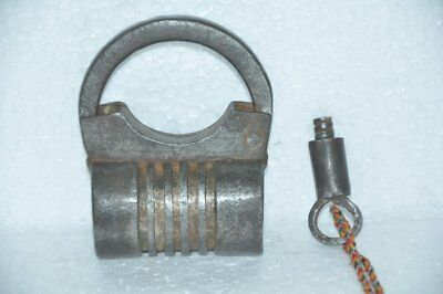 Old Iron Solid Handcrafted Unique Shape Screw Padlock