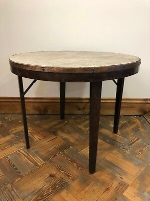 Unusual Antique Peerless Folding Table with Makers Mark - Delivery Available