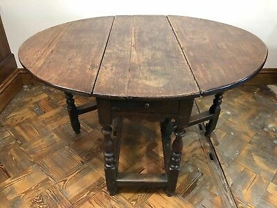 Early Georgian Welsh Oak Gateleg Table - Historical - Delivery Available