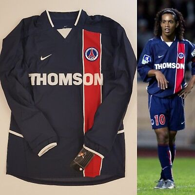 Nike Psg Paris Saint Germain 2002/03 Player Issue Soccer Shirt Jersey Maillot