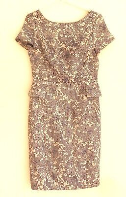 New Look Blue & White Floral Dress 10/38