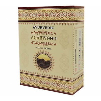 INCIENSO AGARWOOD_AYURVEDA_12 cajitas de 15g _Incense 100% NATURAL_OM_Meditación