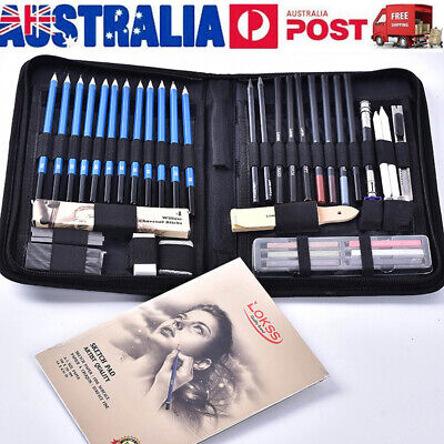 48Pcs Drawing Sketch Set Charcoal Pencil Eraser Art Craft Painting Sketching Kit