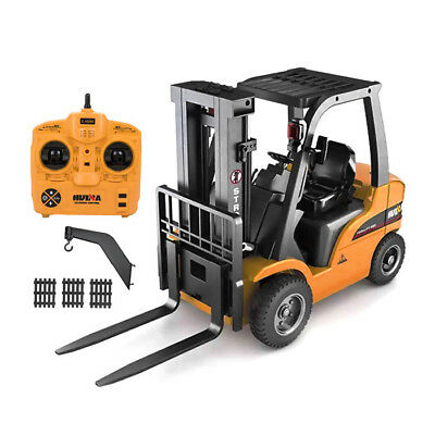 HUINA 1577 1:10 2.4GHz 8CH 2 in 1 RC Forklift Truck Crane RTR 360°Rotation W/LED