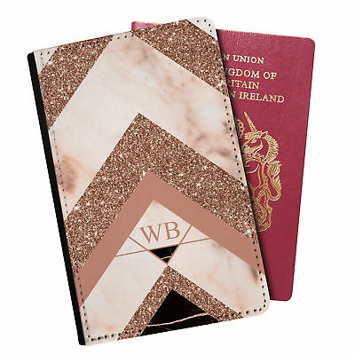 Personalised Marble PU Leather Effect Passport Holder Travel Wallet - 34