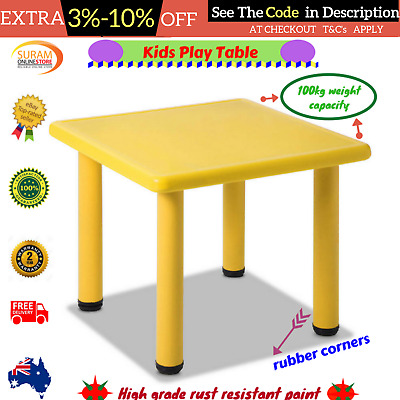 Kids Play Table Chair Play set Toddler HDPE Plastic Portable 100kg Capacity New