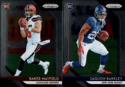 2018 Panini Prizm Football Base Rookie Rc Singles - You Pick & Complete Your Set