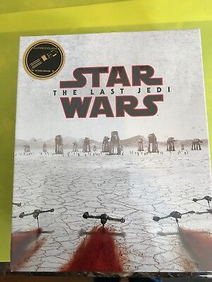 Star Wars Episode VIII The Last Jedi [Blufans] Blu-Ray Steelbook One Click New