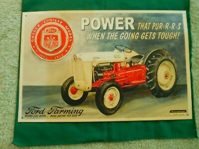 Vintage Ford Tractor  Golden Jubiiee 1997 Sign