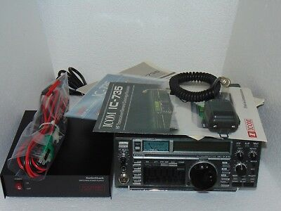 ICOM IC-735 ALL Mode 100W Hf Transceiver W/mars Mod + P/s W/updates Nice C  Video