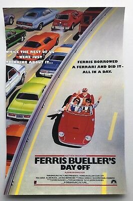 Ferris Bueller's Day Off Theatrical Release 11x17 Movie Poster (1986)