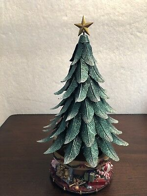 Partylite Candle Holder Glowing Tree P7920 Musical Christmas Tree Retired - PARTYLITE CANDLE HOLDER Glowing Tree P7920 Musical Christmas Tree