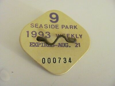 Vintage Seaside Park Beach Badge 1993 Weekly Expired August 21
