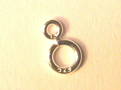 2.6mm & 4.5mm Sterling Silver Figure 8 Jump Ring- Findings-Double Jump Ring .925