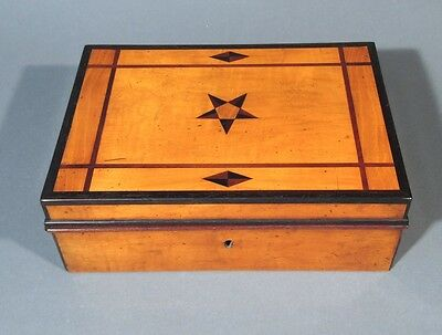 Antique French Wooden Box, Hand Made,Marquetry