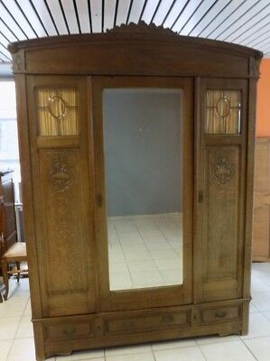 Antique Authentic FRENCH OAK WARDROBE, ARMOIRE