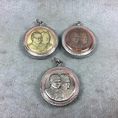 Thai amulet SET COIN King Rama IX Reign 9 and Queen Bhumibol His majesty RARE