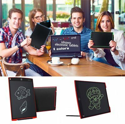 """12""""Digital LCD Writing Tablet Electronic Graphic Board eWriter Notepad Pen LotPO"""