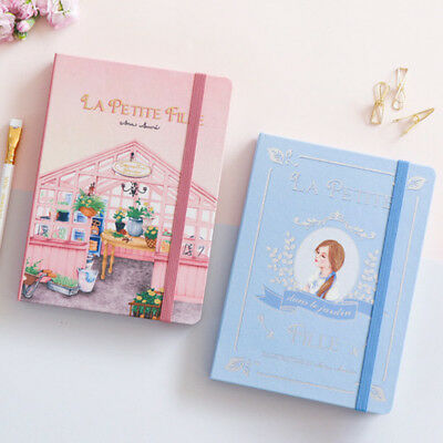 2019 Blank Journal Monthly Diary Planner School Agenda Notebook Portable Pink