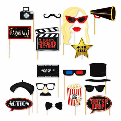 20x Oscars Photo Booth Selfie Props Movie Hollywood Awards Party Decoration Kit