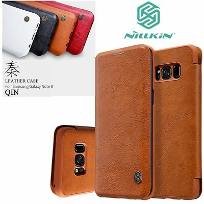 Nillkin Qin Series Card Slot Flip Leather Case Fr Samsung Galaxy Note 8 S8/PlNB