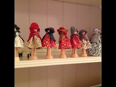 Adorable decoration, peg dolls, my country cousins range, handcrafted
