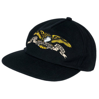 Anti Hero Skateboard Cap Eagle Emb Unstructured Black Snapback Dad Hat