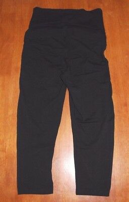 Women's Target Black 3/4 Length Maternity Leggings Tights Size 10 EUC