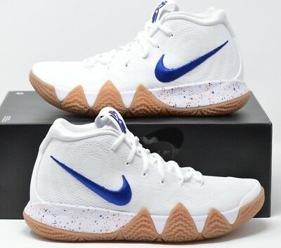 c73ef5a1cb87f2 NEW MENS SIZE 7 Nike Kyrie 4 Uncle Drew White deep Royal Blue Gum ...
