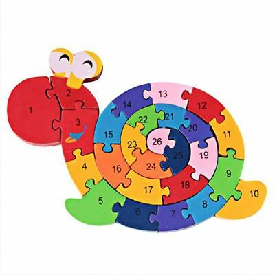 1X(Wooden Blocks Jigsaw Winding Snail Letter and Numbers Puzzles Preschool V5K4