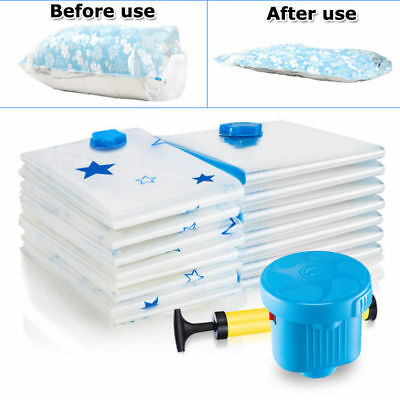 Heavy Duty Vacuum Seal Storage Anti Pest Bag Space Saving Cloth Travel Quilt