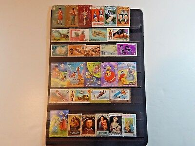 38 Stamps from Antigua and Barbuda.