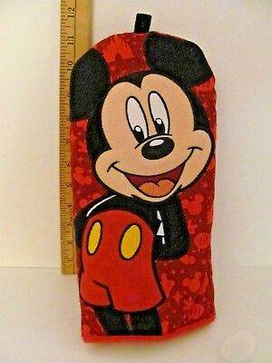 """NWT Disney Mickey Mouse Red Oven Mitt Pot Holder Parks Exclusive 12"""" Long"""