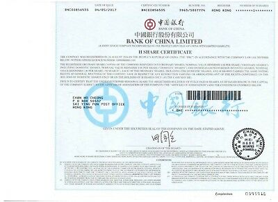 China: Bank of China Limited