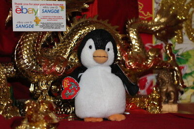 """Ty 2.0 Beanie Baby Chill The Penguin-6""""-Unused Code-2007-Mwnmt-Nice Gift"""