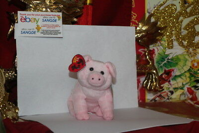 """Ty 2.0 Beanie Baby Sniffs The Pig-4""""x7""""-Unused Code-2007/2008-Mwnmt-Nice Gift"""