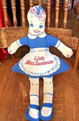 Rare Vintage  Miss Sunbeam Bread Advertising Rag/Cloth Doll