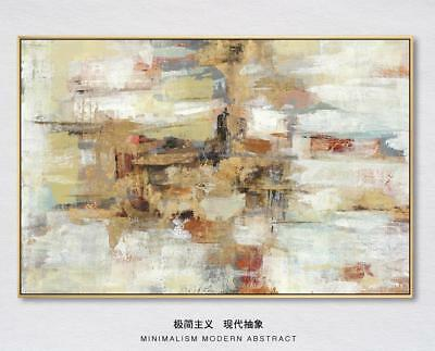HH211 Modern Hand-painted abstract oil painting Color art No Frame 36in